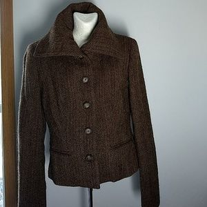 Ralph LaurenLambwool and Alpaca brown jacket